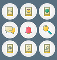 icons set For web site design and mobile apps vector image vector image