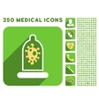 Infection Condom Protection Icon and Medical vector image vector image