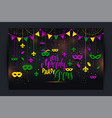 mardi gras colored frame with a mask and fleur-de vector image