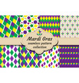 mardi gras set of abstract geometric pattern vector image vector image
