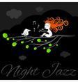 Night jazz art poster vector image vector image