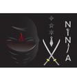 ninja cartoon vector image