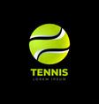 original tennis logo tennis ball icon vector image