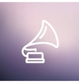 Phonograph thin line icon vector image vector image