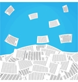 pile of office papers vector image vector image
