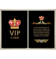 royal card vector image vector image