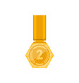 second place golden medal with ribbon vector image vector image