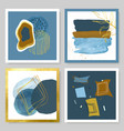 set abstract with watercolor vector image vector image