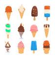 set ice cream design vector image