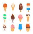 set of ice cream design vector image