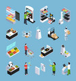 shop of future isometric icons vector image vector image