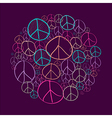 Sketch peace symbols circle shape compostion EPS10 vector image vector image