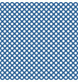 small white polka dots on bablue background vector image vector image