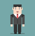 Smiling businessman standing vector image