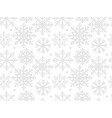 snowflakes seamless pattern for your design vector image vector image