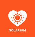 solarium logo sun and heart vector image vector image