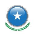 somalia flag button somalia flag icon of somalia vector image vector image
