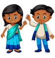 sri lanka boy and girl in traditional costume vector image vector image