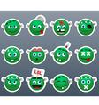 Stickers Frankenstein vector image vector image