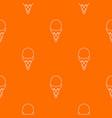 strawberry ice cream pattern orange vector image vector image