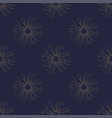 sunburst seamless pattern vintage style golden vector image