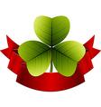 Trefoil clover vector image