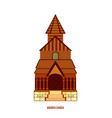 urnes stave church part of unesco norway vector image vector image