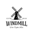 vintage windmill logo designs classic and luxury vector image vector image