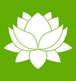 water lily flower icon green vector image vector image