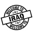 welcome to iraq black stamp vector image vector image