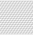 white 3d geometric texture backgroundseamless vector image