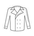 wool coat line icon vector image
