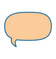 isolated bubble speech vector image