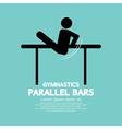 Parallel Bars Gymnastics vector image
