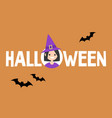 halloween conceptual sign witch and black vector image