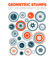 set of abstract geometric stamp icons vector image