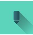 Blue pencil icon Flat design vector image
