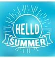 Hello summer stamp vector image