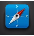 Compass travel symbol icon on blue vector image