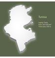 3d map tunisia vector image