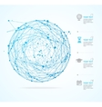 Abstract Background with Sphere and Infographic vector image vector image