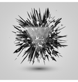 Abstract black explosion Geometric background vector image vector image