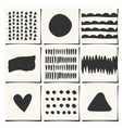 abstract geometric design cards set vector image