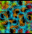 abstract pastel pattern of blue gears and green vector image