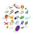 air transport icons set isometric style vector image vector image