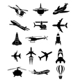 Air travel icons set vector image vector image