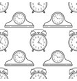 alarm clock and mantel clocks black and white vector image vector image