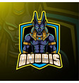 anubis sport mascot logo design vector image vector image