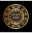 art deco element gatsby design vector image vector image