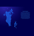 bahrain map abstract schematic from blue vector image vector image